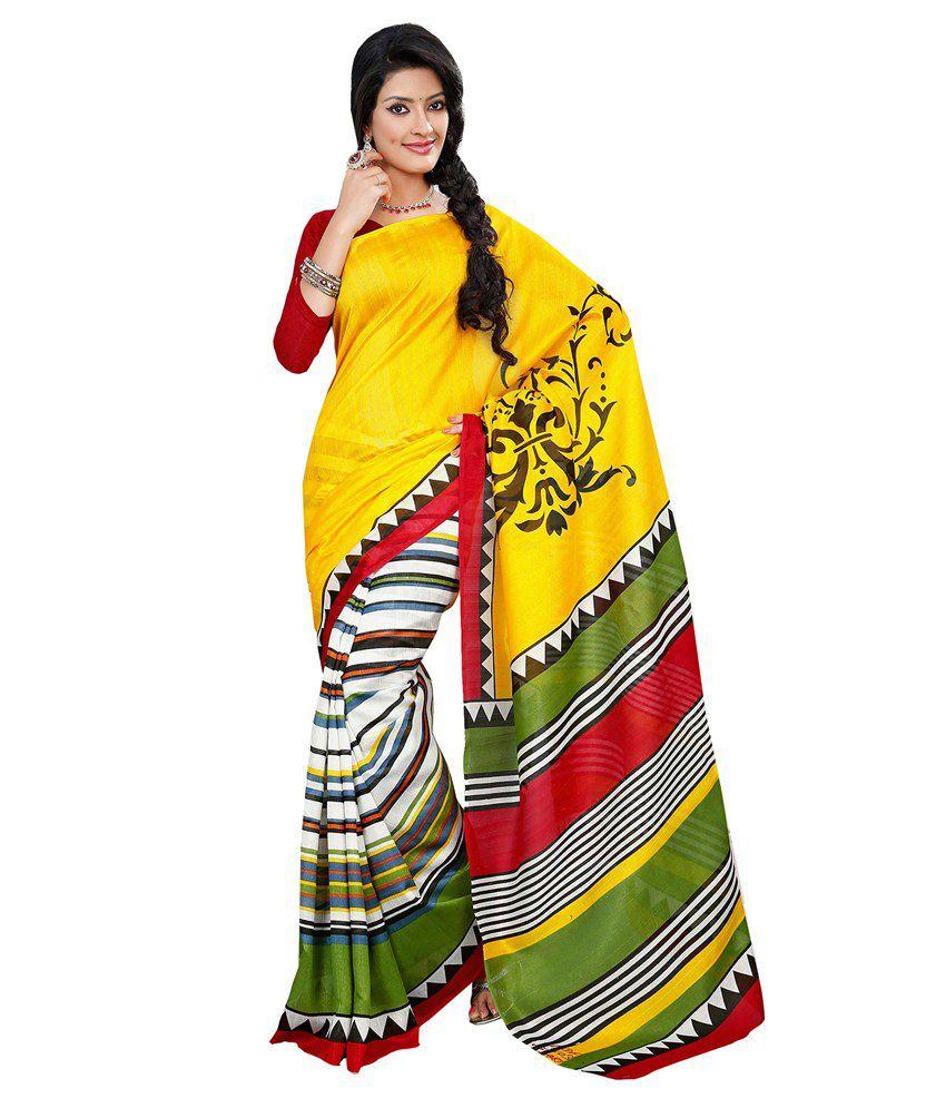 Ishin Multicoloured Bhagalpuri Silk Saree