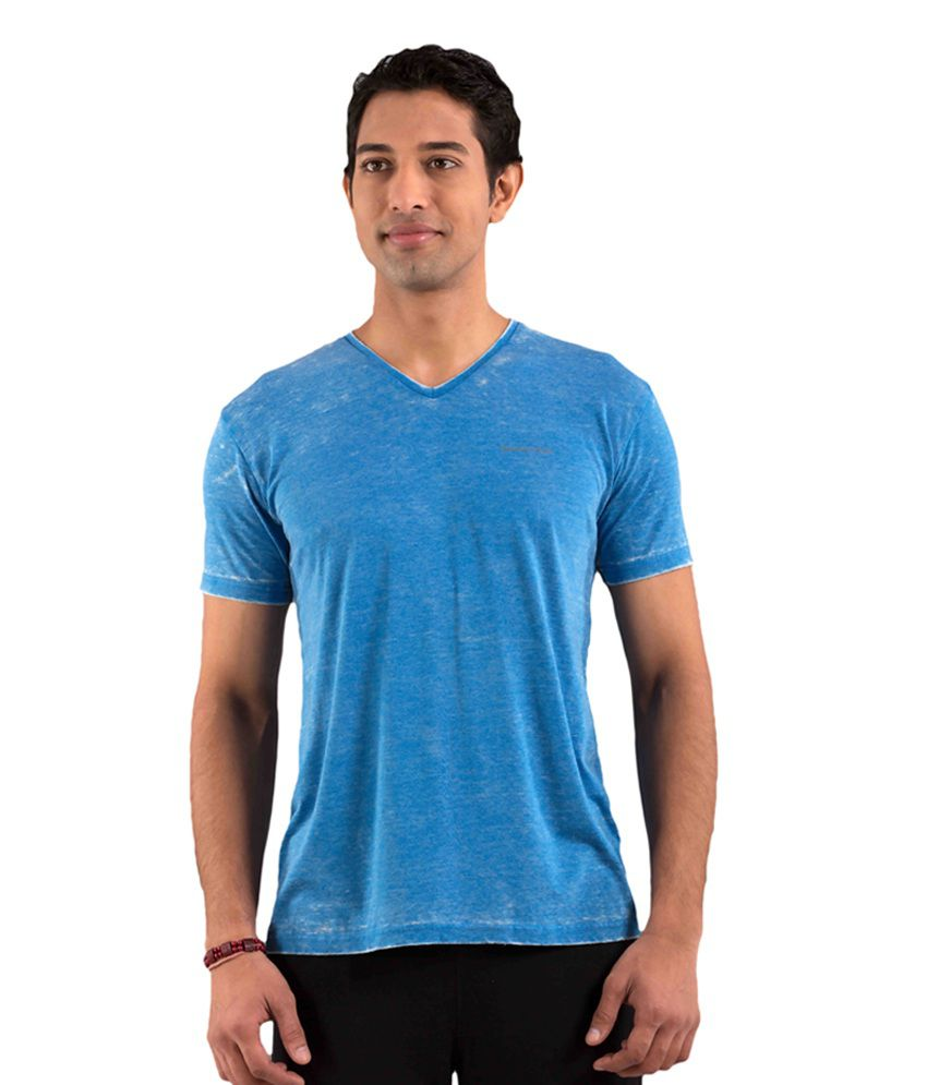 Foreveryoga Blue Men's Basic Tee