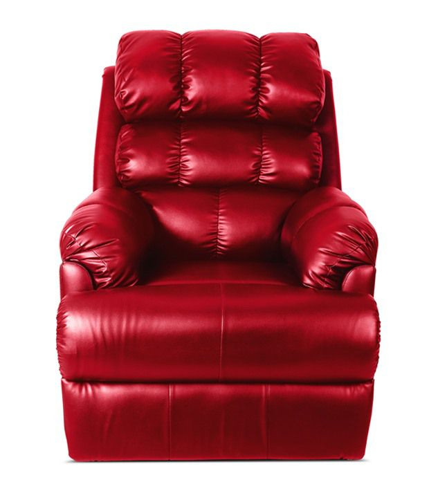 LittleNap Amet Leatherette 1 Seater Recliner- Red