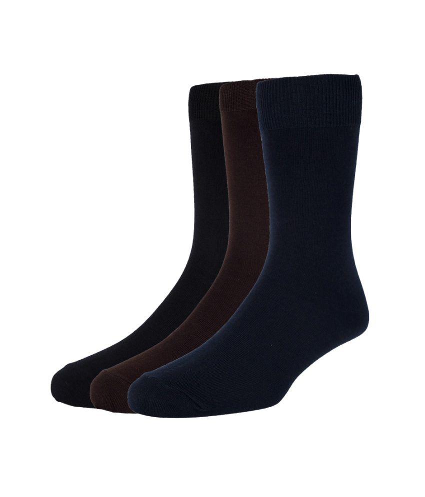 Peter England Multi Formal Full Length Socks Pack of 3