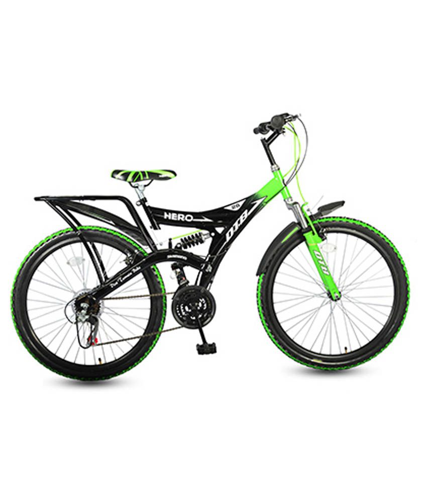 Hero green and black bicycle buy online at best price on for Motor cycle without gear