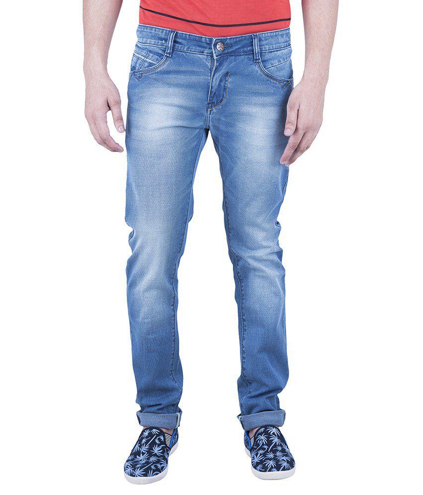 A&a Blue Slim Fit Jeans