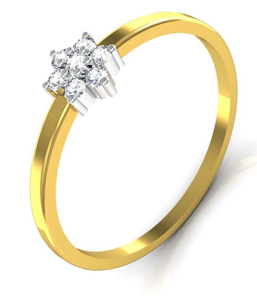 Avsar Swarovski Bis Hallmarked 14kt Gold Ring