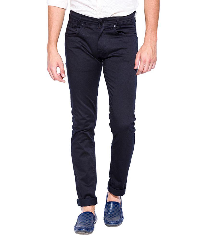 Mufti Black Slim Fit Trousers