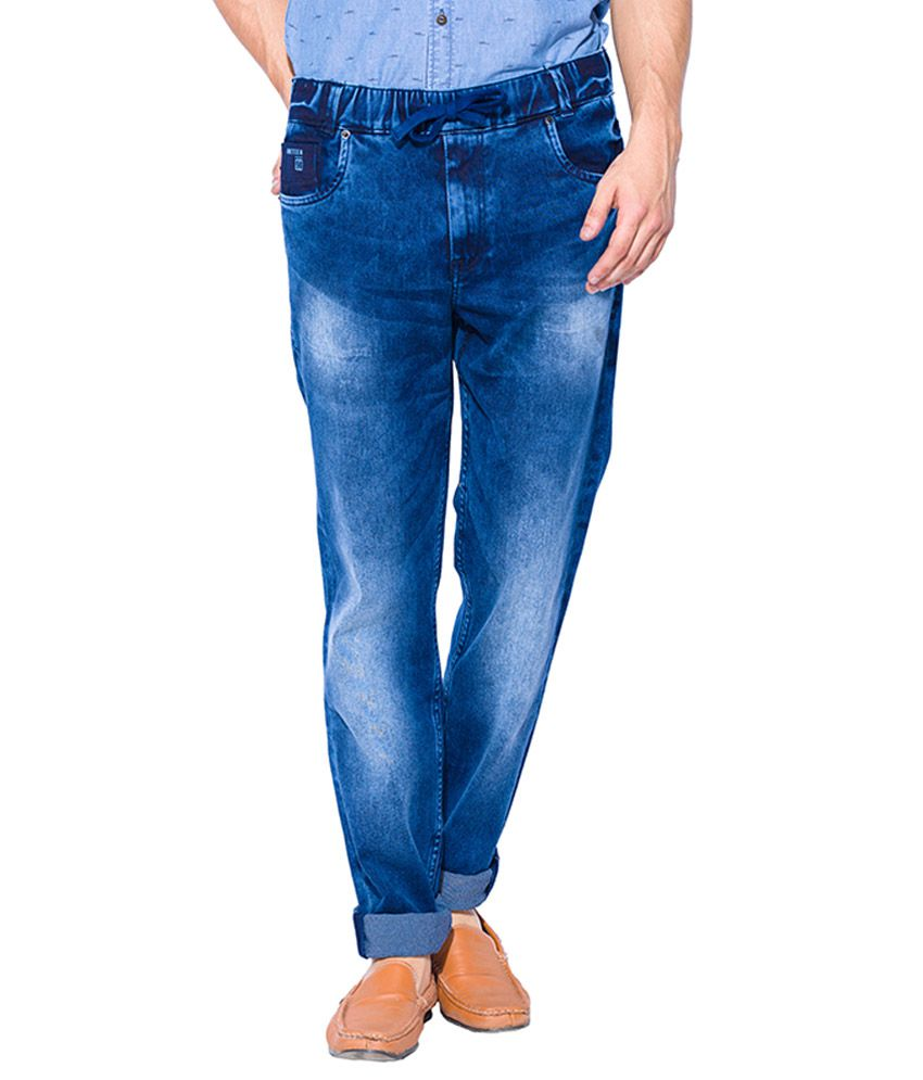 Mufti Blue Sport Fit Jeans