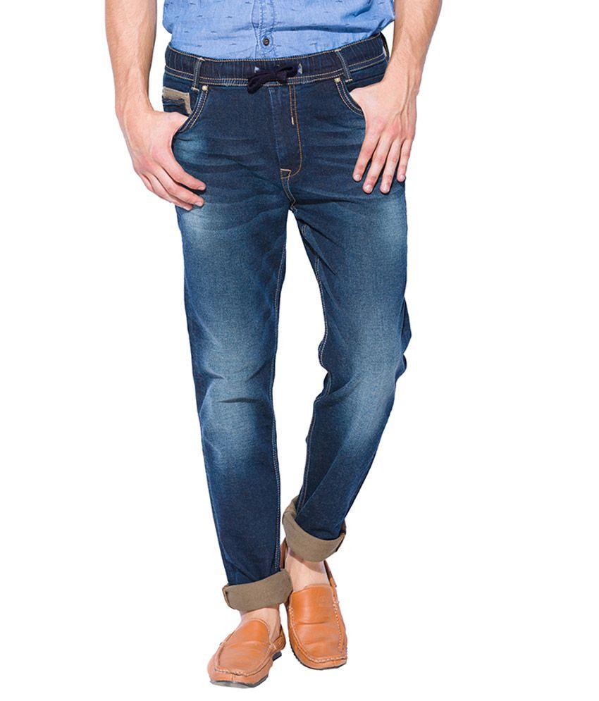 Mufti Blue Sport Fit Jeans