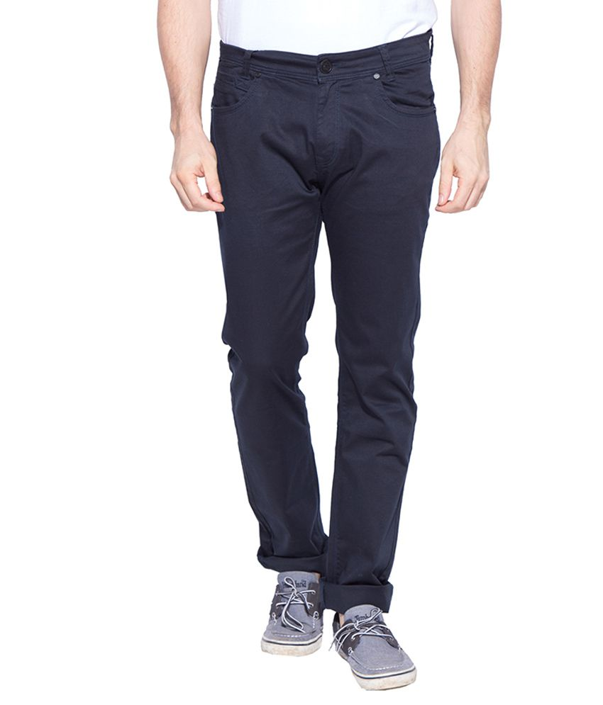 Mufti Navy Slim Fit Trousers