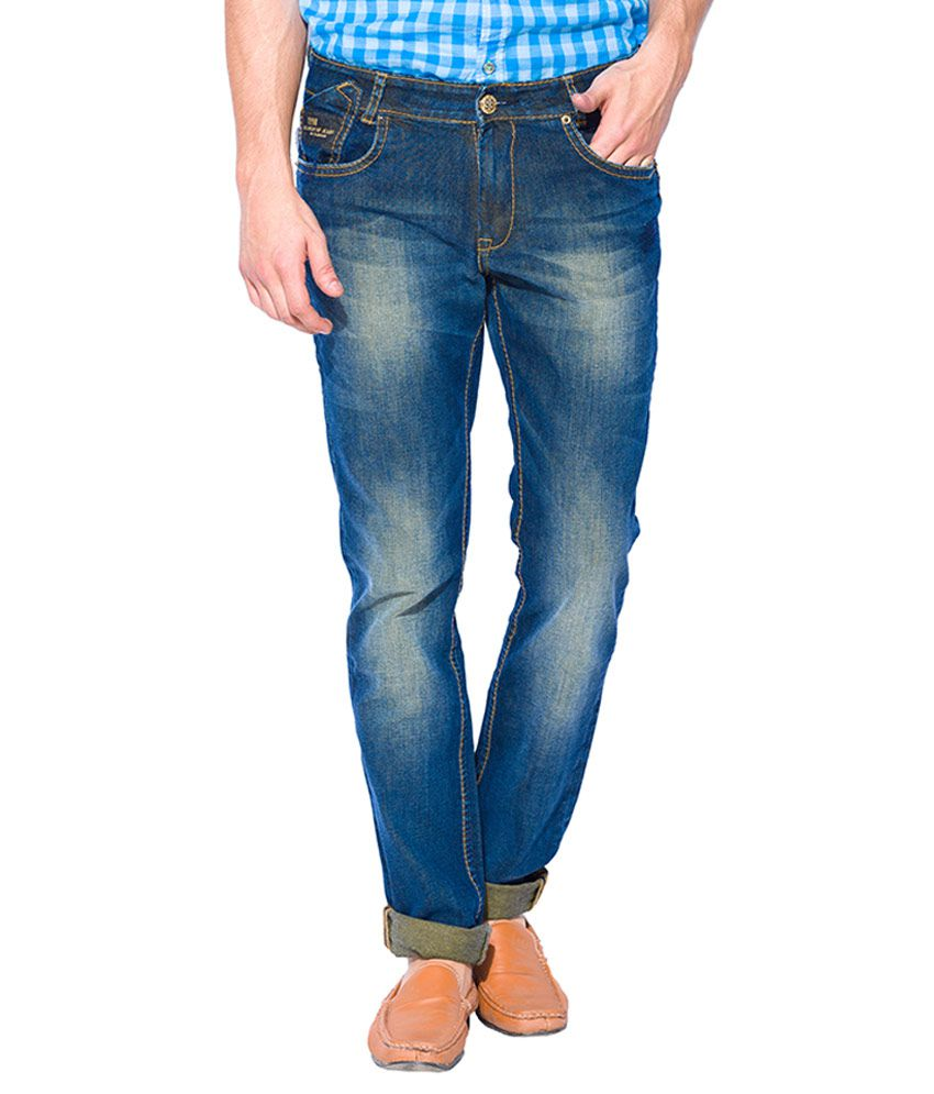 Mufti Tinted Green Super Slim Fit Jeans