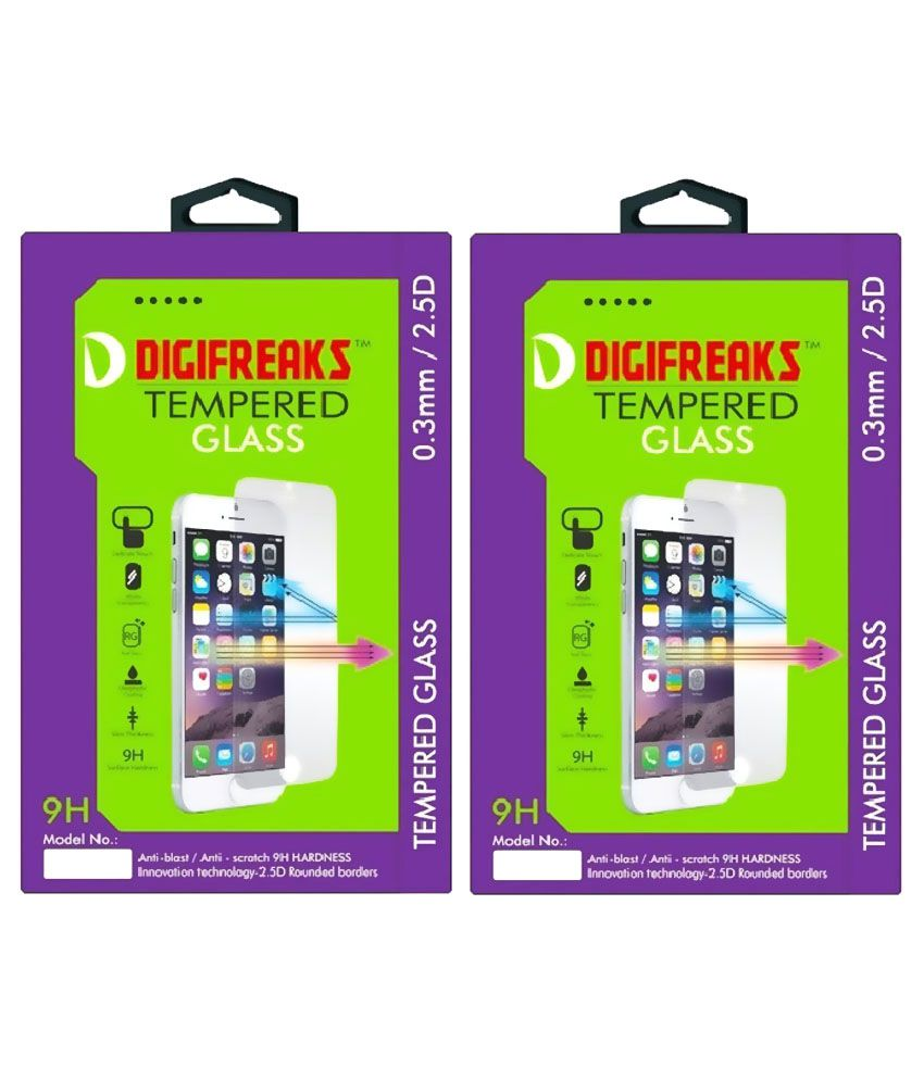 Samsung Galaxy A8 Tempered Glass Screen Guard by Digifreaks