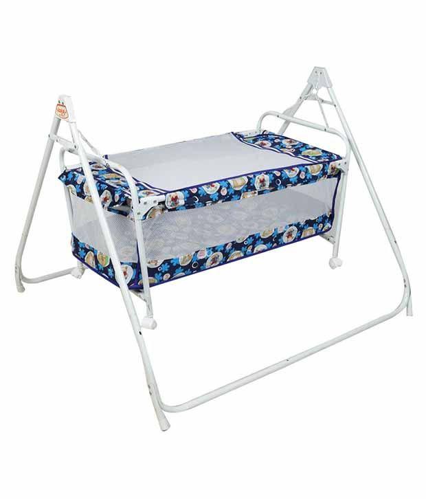 Ehomekart Blue Deluxe Cradle Cum Cot For Kids