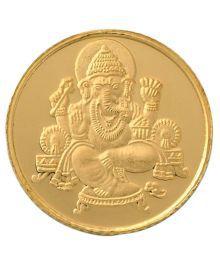 Bangalore Refinery 24kt (999) Ganesha Gold Coin