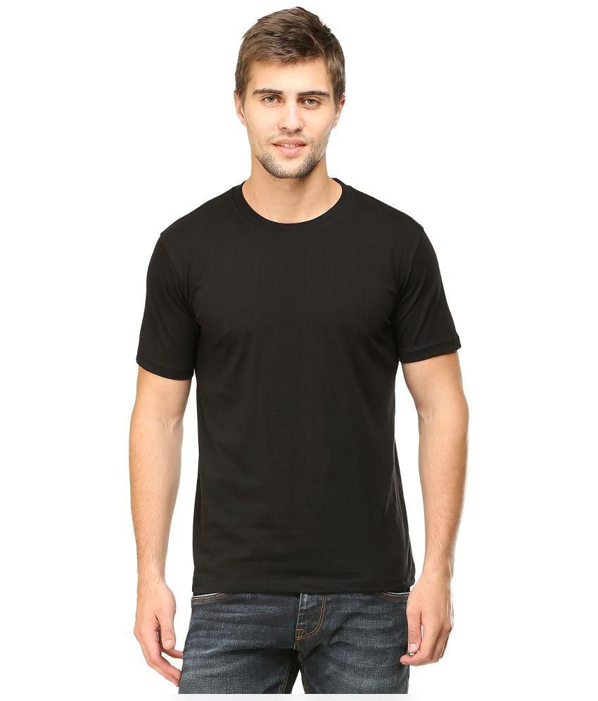 Tee Talkies Black Round Neck T-Shirt
