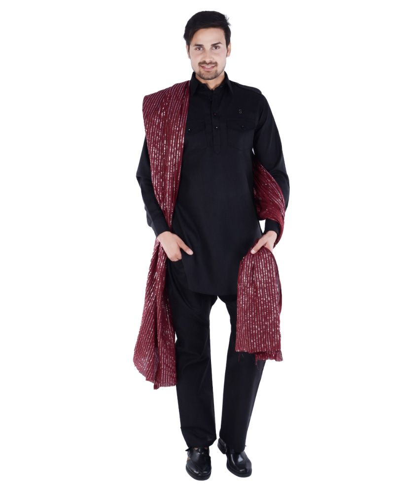92f3d0e292 S9 Men Black Pathani Suits No - Buy S9 Men Black Pathani Suits No Online at Low  Price in India - Snapdeal
