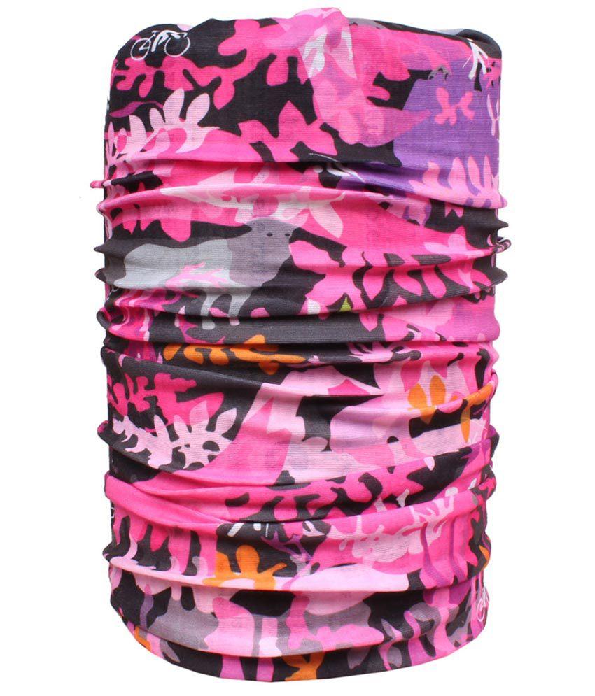Sushito Pink And Black Polyester Bandana