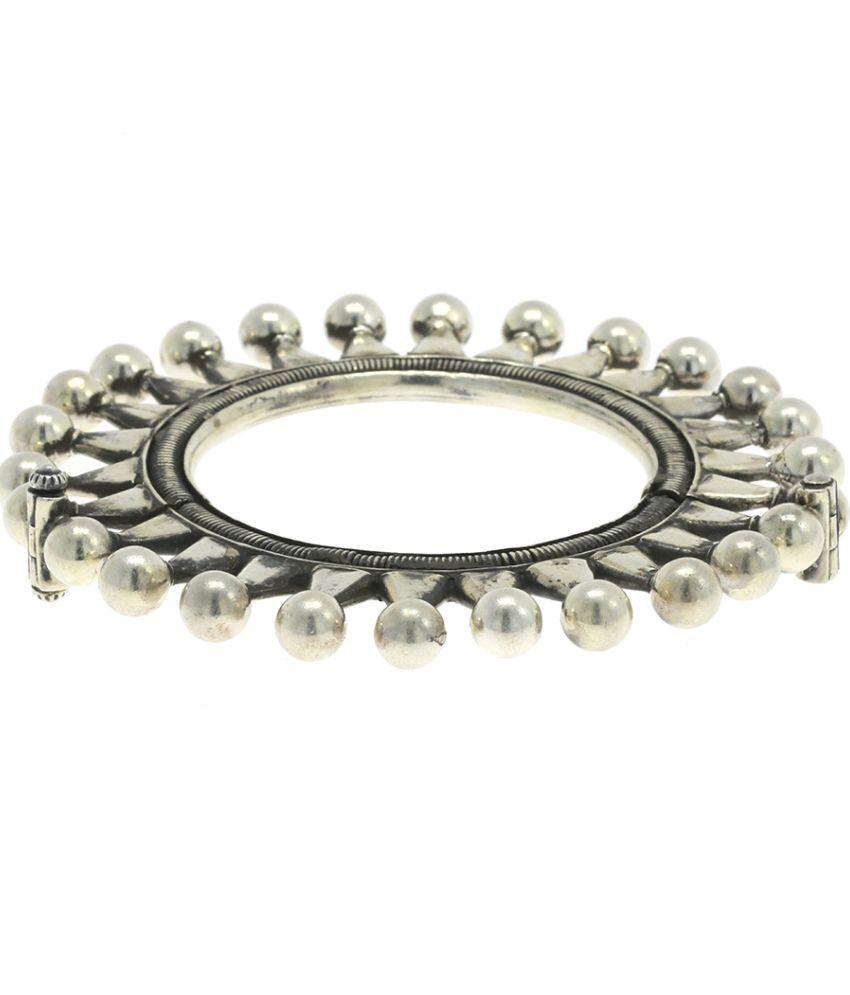 Abhijewels Oxidised Silver Antique Style Kada For Women Buy
