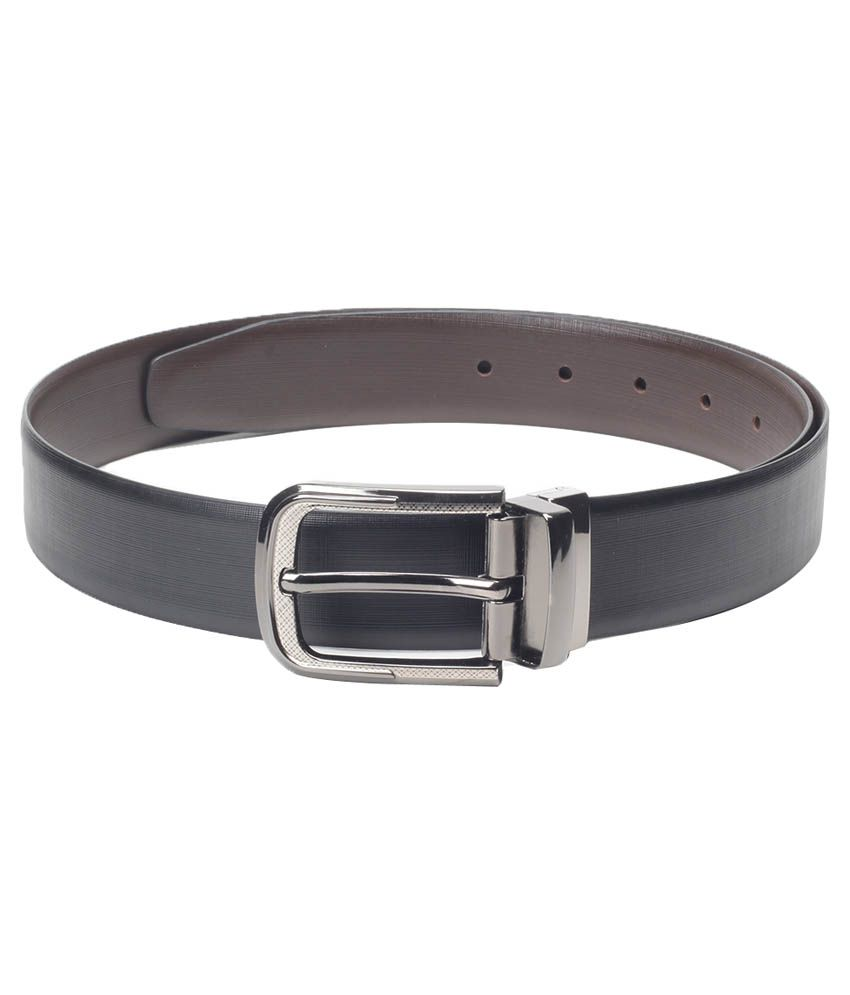 Chisel Black Reversible Leather Belt For Men