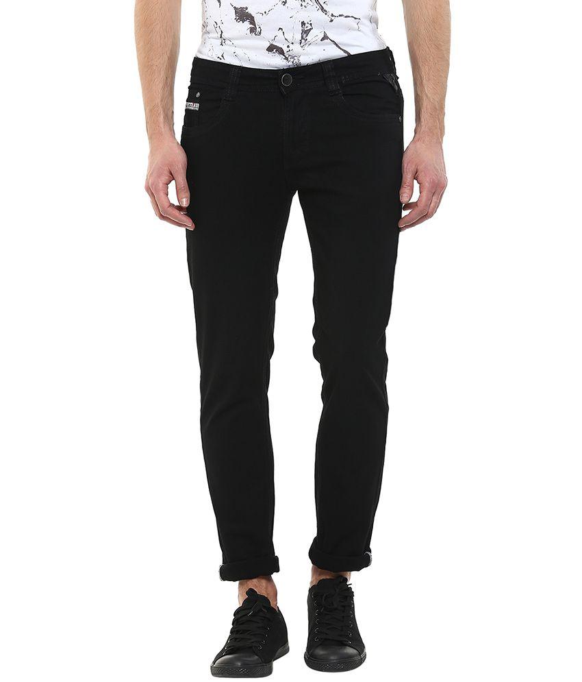 Code 61 Black Skinny Fit Jeans