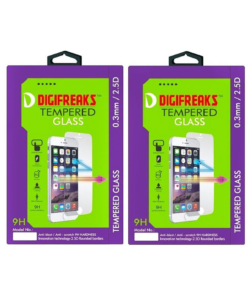 Digifreaks Tempered Glass Screen Guard For Xiaomi Redmi 2 Prime Pack Of 2