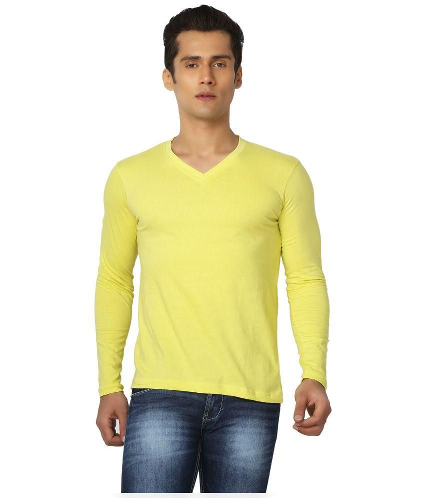 Joke Tees Yellow V Neck T-Shirt