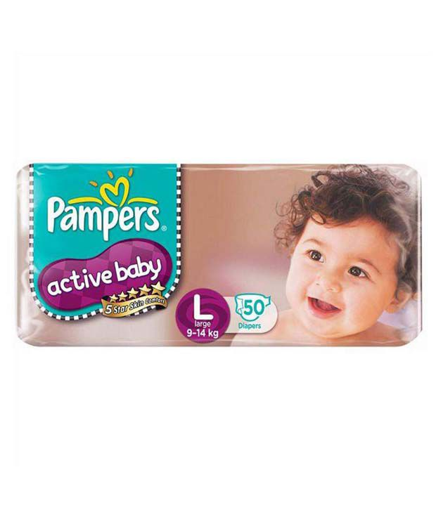 Pampers Active Baby Diapers large (9-14kg)- 50pcs Diapers