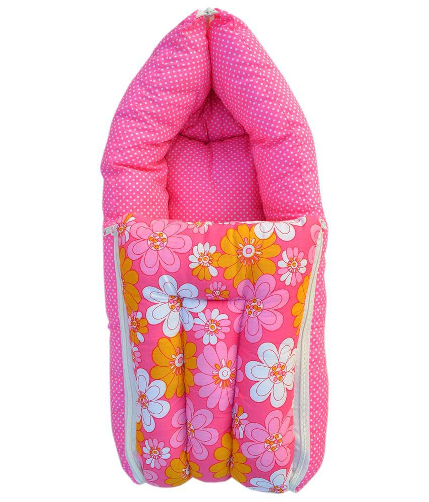 Younique Pink Cotton Sleeping Bags ( 66 cm × 50 cm)