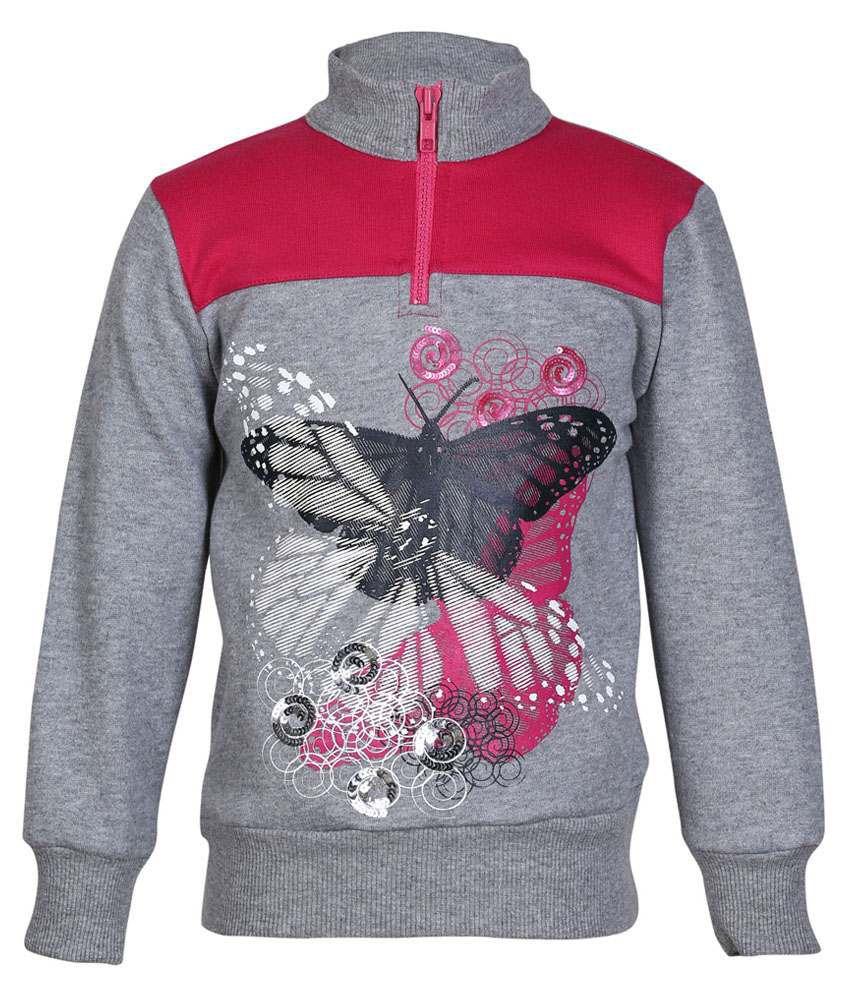 Cool Quotient Gray Sweatshirt For Girls