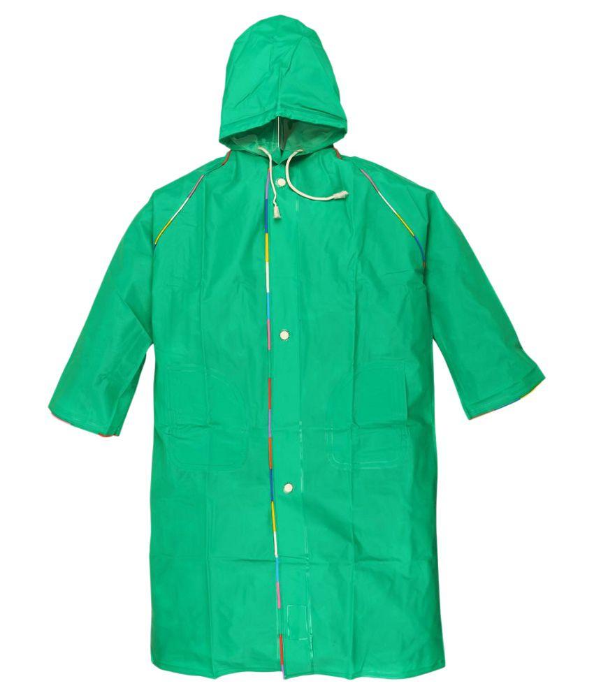 Ollington St. Collection Green Full Sleeves Rainwear Jacket