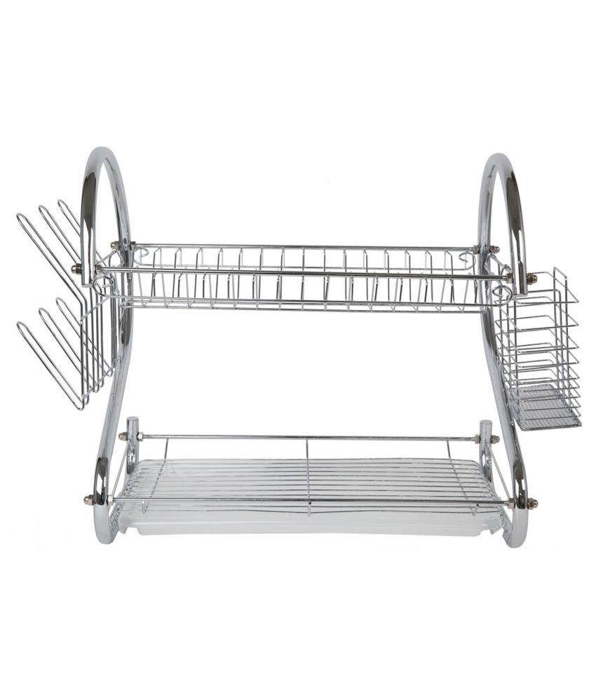 Kitchen Racks Stainless Steel Pindia Silver Stainless Steel Kitchen Rack Buy Pindia Silver