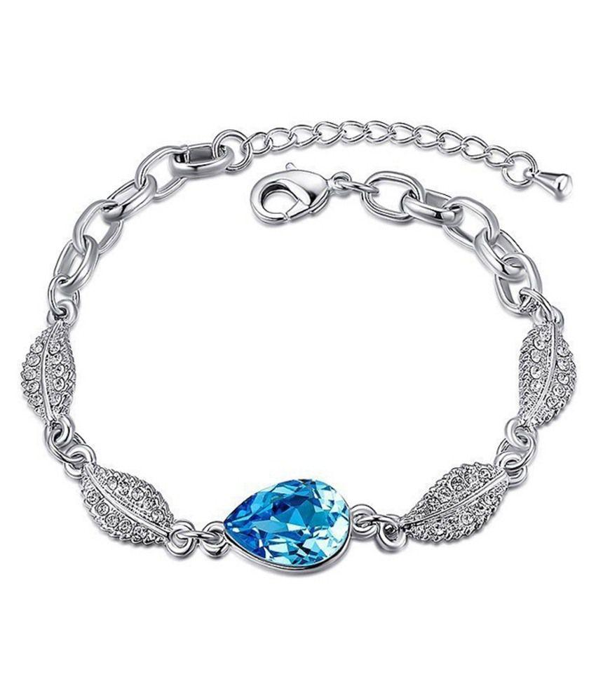 Youbella Blue Alloy Bracelet