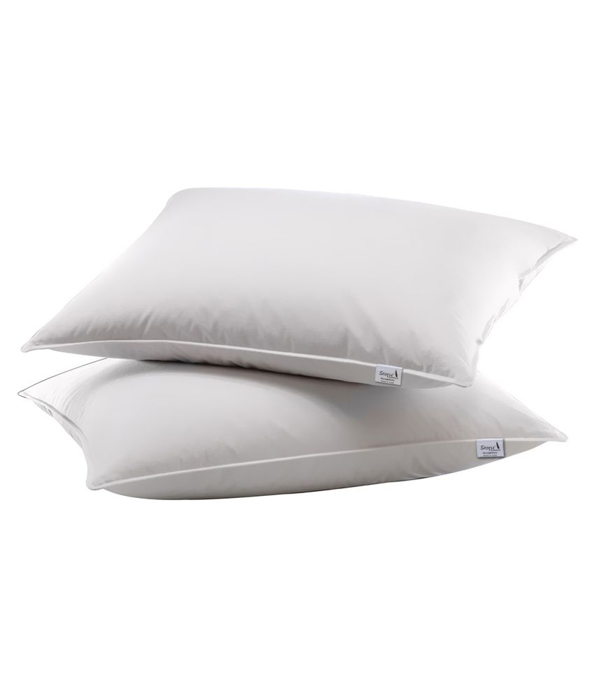 Story@home White Pillows - Set Of 2