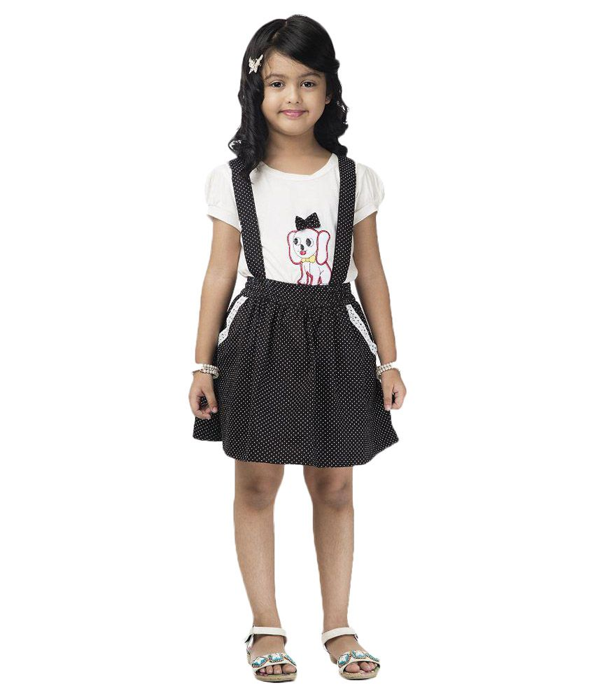 Vastra Valley White and Black Dungaree