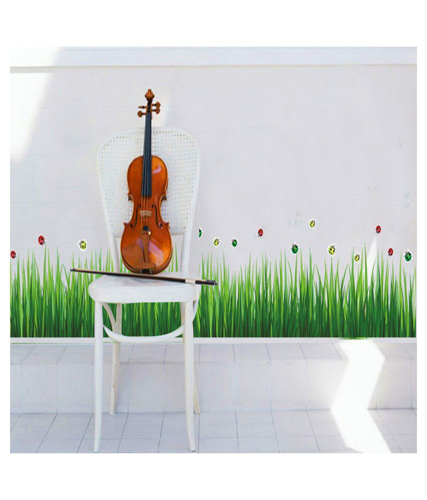 wow interiors and decors grass and bug wall sticker buy