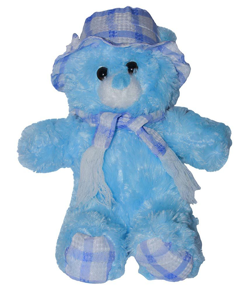 Tiny Tickle Tiny Tickle Blue Cloth And Velvet Cloth Teddy Bear Soft Toy