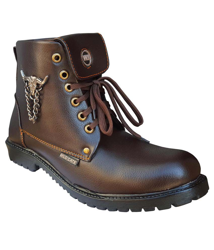 Wild Cats Brown Boots
