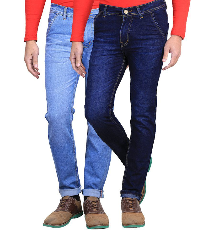 Ave Blue Slim Fit Jeans Pack Of 2