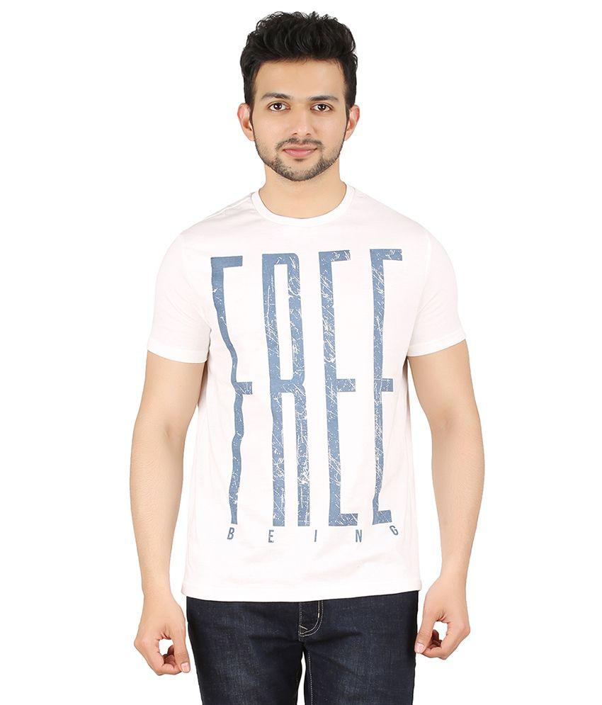 Cipria White Round Neck T-Shirt