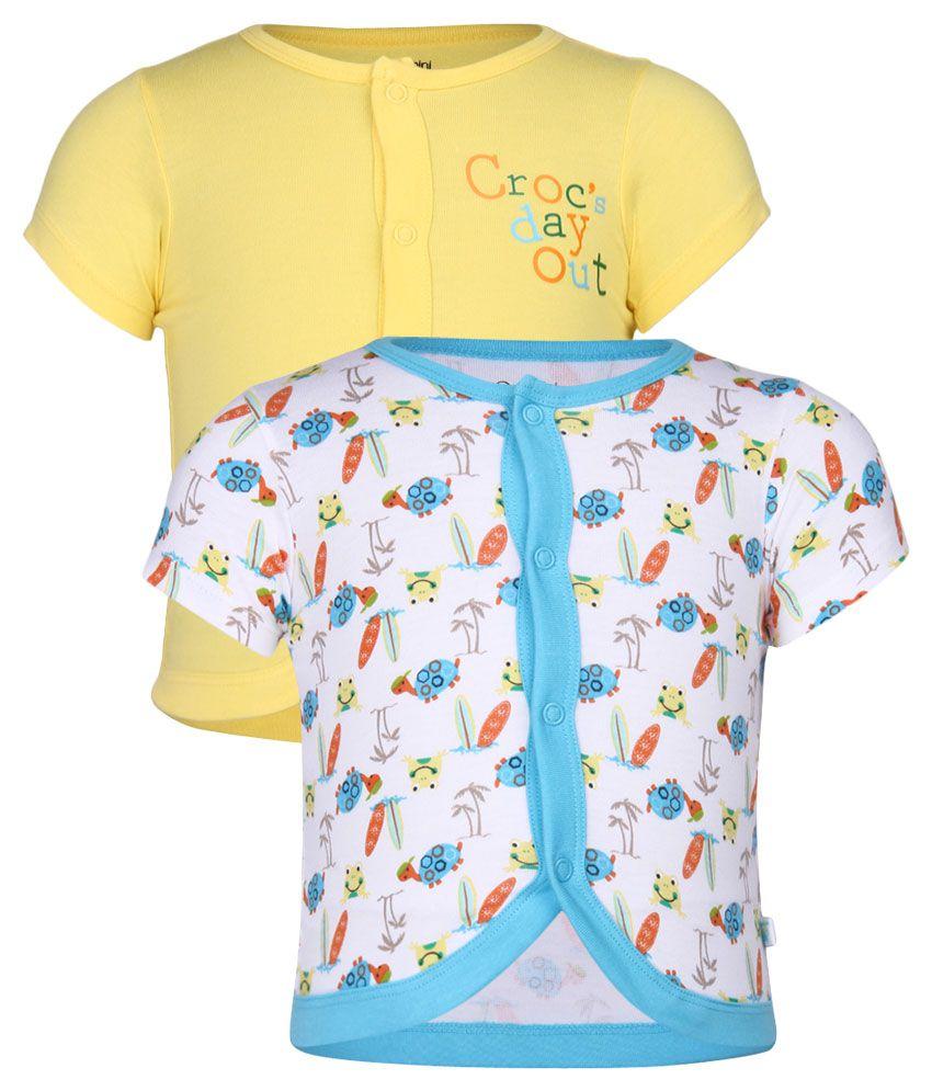 FS MiniKlub Multi Color Pack of 2 T-Shirt