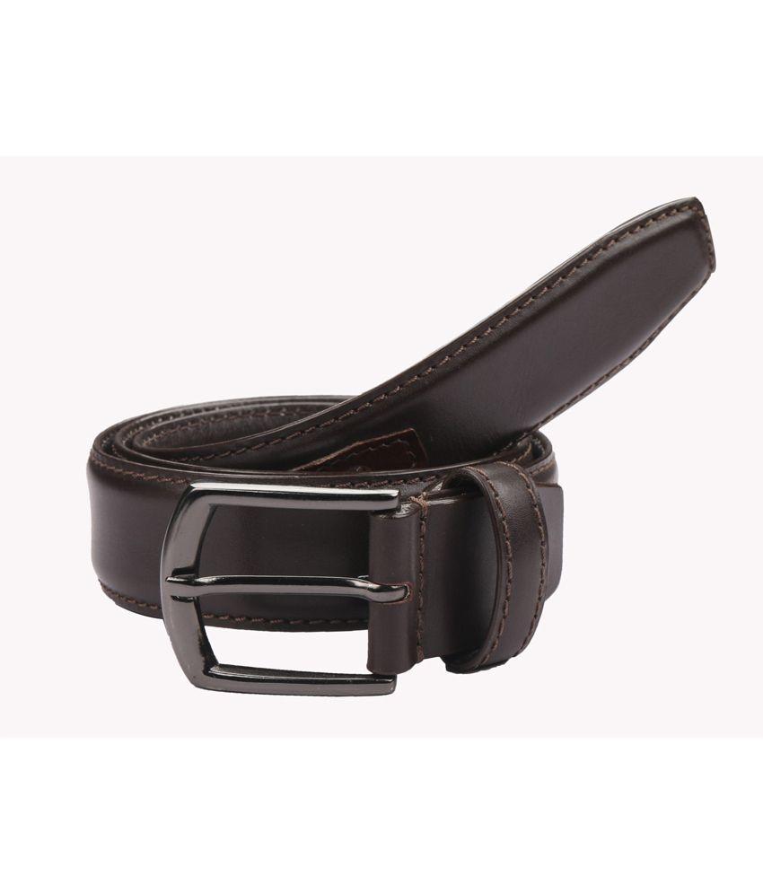 Paradigm Design Lab Black Leather Formal Belt For Men