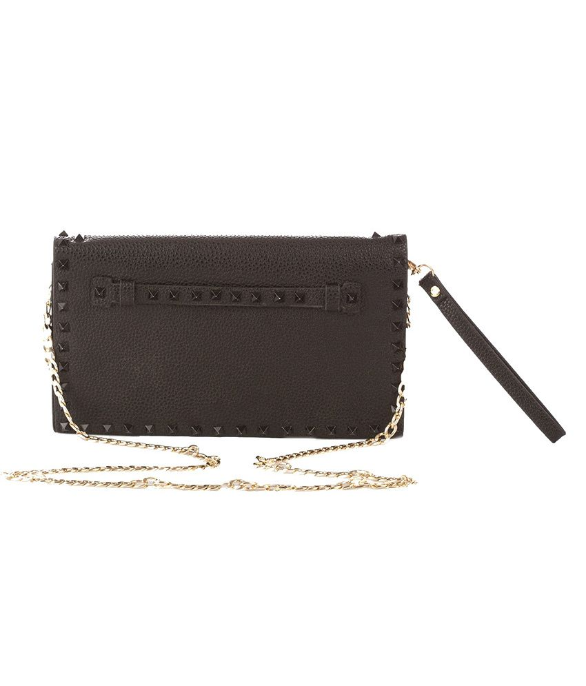 Vero Couture Black P.u. Clutch