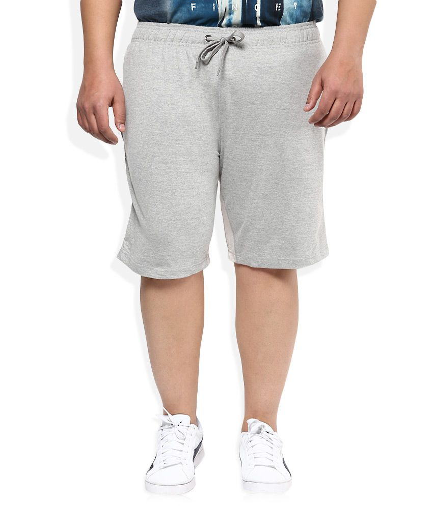 Alto Moda By Pantaloons Grey Solid Shorts