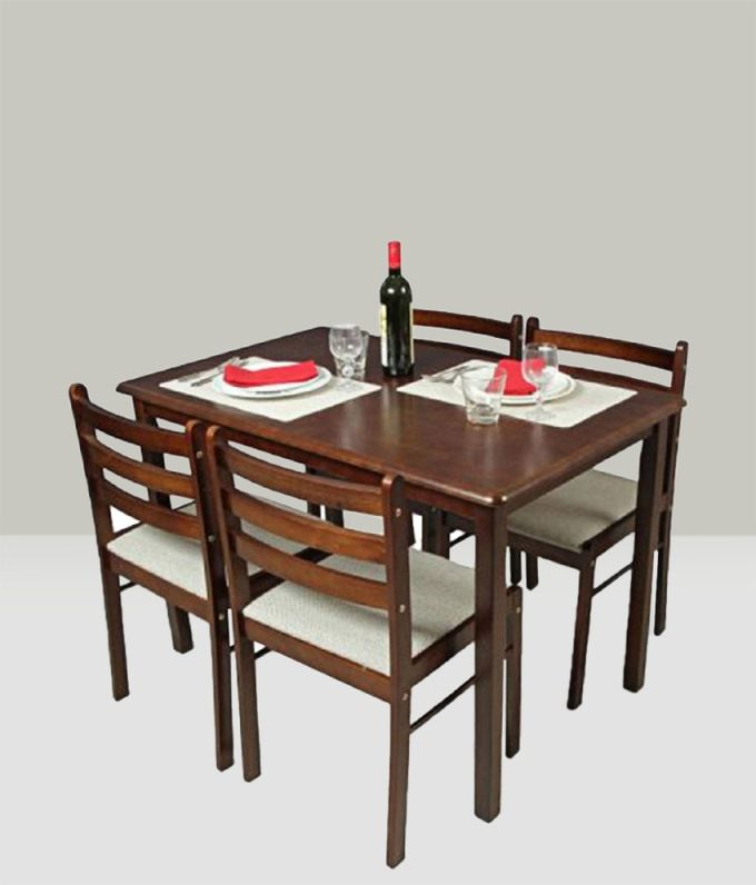 solid wood 4 seater dining set rh snapdeal com
