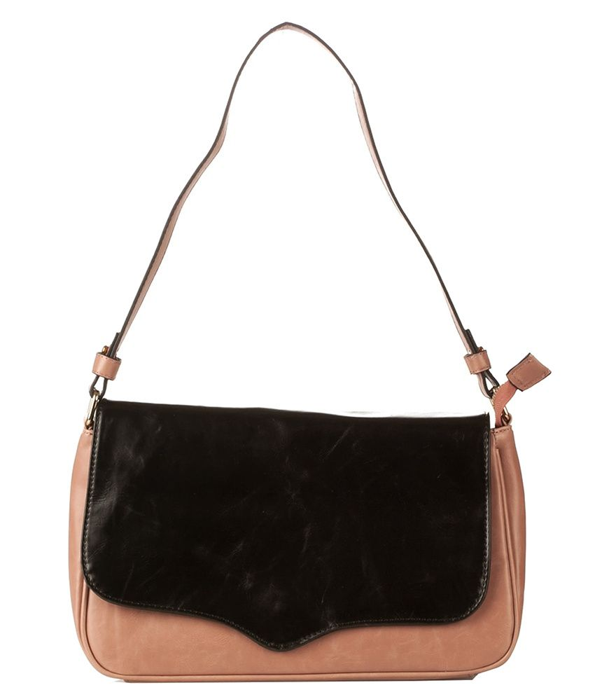 Vero Couture Brown and black P.u. Shoulder Bag