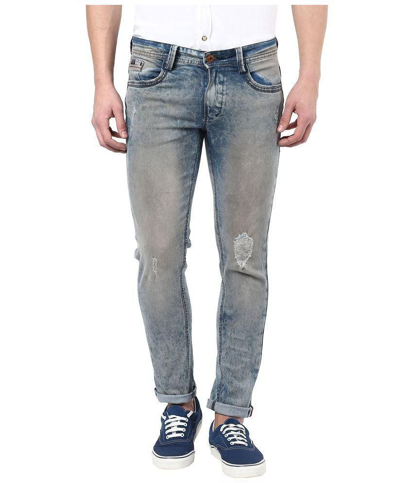 CODE 61 Blue Skinny Fit Jeans