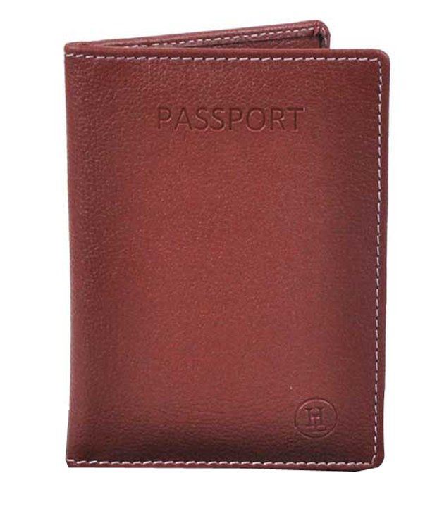 31d56f49a Hashain Leather Work Hl-56 Brown Pu Passport Cover - Buy Hashain Leather  Work Hl-56 Brown Pu Passport Cover Online at Low Price - Snapdeal