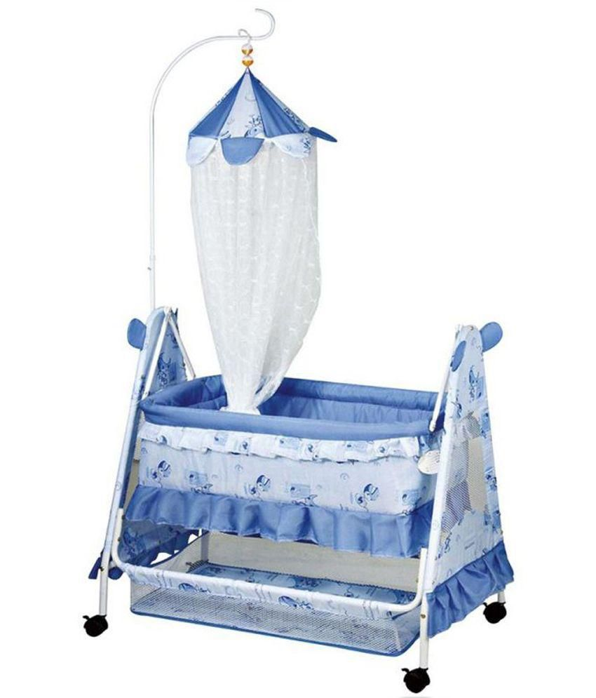Doras Chutties Blue and White Baybee Cradle