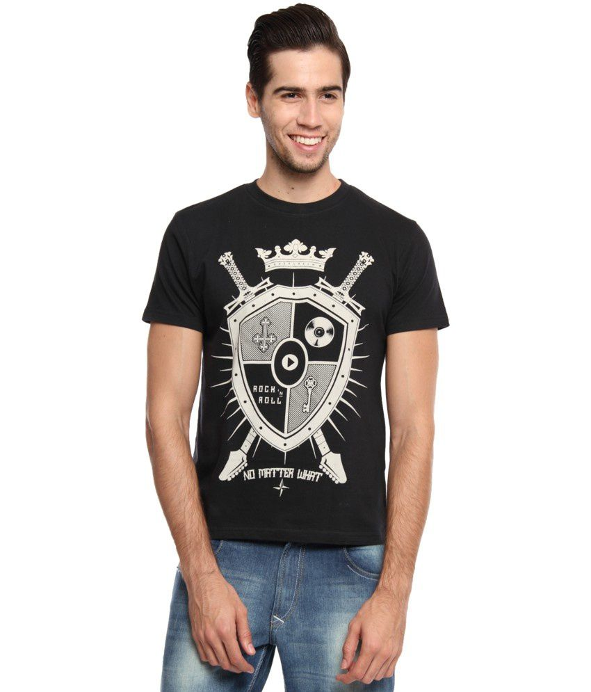 Zovi Black Cotton No Matter What Graphic T-shirt