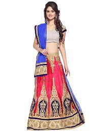 Rudra Fashion Pink Net Lehenga
