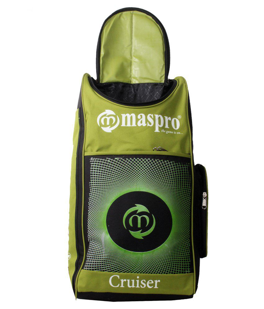 857b97864ef Maspro Cruiser Cricket Kit Bag-green   Black  Buy Online at Best ...
