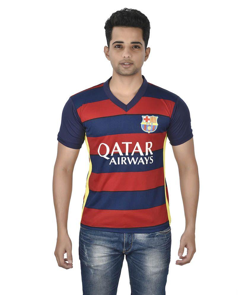 Attitude Multicolor Polyester Football Jersey