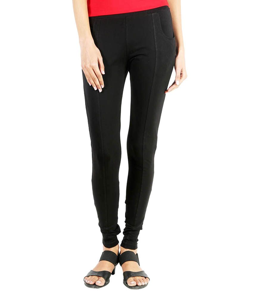 Baremoda Black Cotton Lycra Jeggings